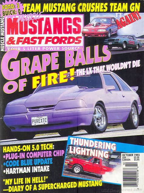 mustangs and fast fords back issues backissues mustangs fast fords october 1993