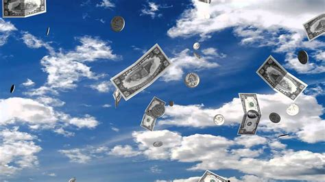 The Falling Sky money falling from the sky background loop