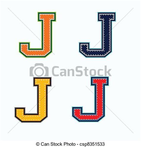 College With Letter J Vectors Of J College Letter In 4 Colors Csp8351533 Search Clip Illustration Drawings And