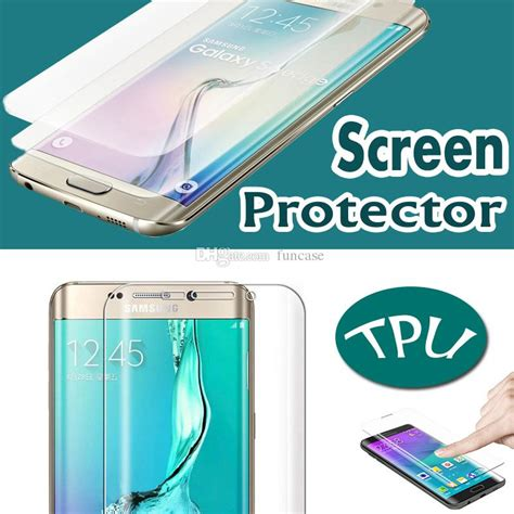 Grosir Soft Anti Samsung C7 Pro curved cover clear soft tpu screen protector anti scratch for iphone 7 plus 6 6s