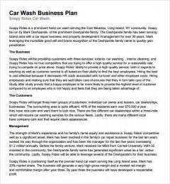 Business Letter For Car Wash Car Wash Business Plan Template 11 Free Documents In Pdf