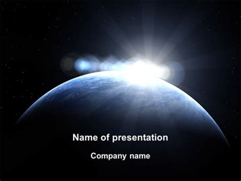 Deep Space Sunrise Presentation Template For Powerpoint And Keynote Ppt Star Microsoft Powerpoint Templates Space