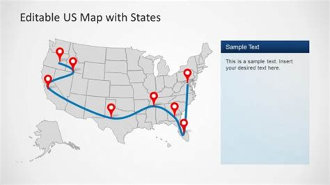 us map template powerpoint us map template for powerpoint with editable states