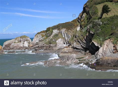 lester point and combe martin royalty free stock lester point in combe martin bay ilfracombe