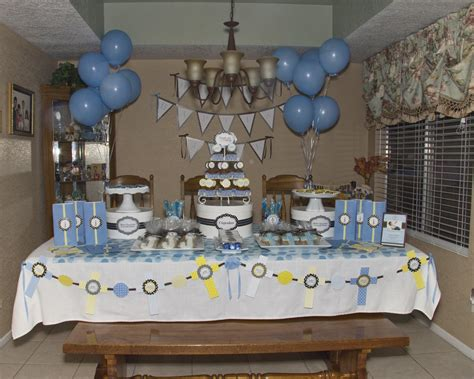 Baptism Table Decorations by Boy Baptism Table Decorations Photograph Boy Baptism