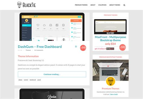 black tie bootstrap themes the ultimate guide to bootstrap webdesigner depot