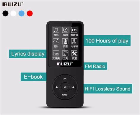 Ruizu X02 Hifi Dap Mp3 Player 8 Gb ruizu x02 hifi dap mp3 player 8gb black