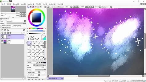 paint tool sai galaxy tutorial how to paint a galaxy tutorial