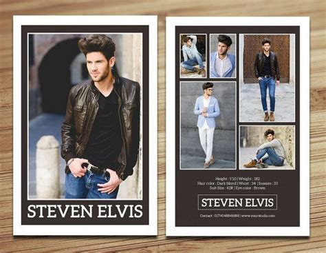Comp Card Template Indesign by Best 25 Model Comp Card Ideas Only On Studio