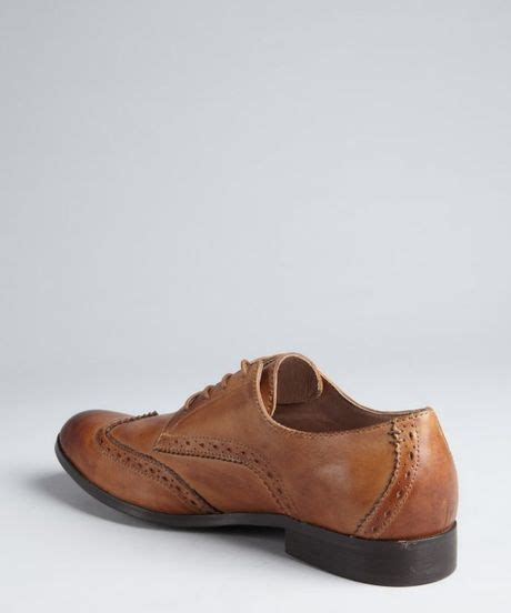 light brown wingtip shoes original penguin light brown distressed leather op wing