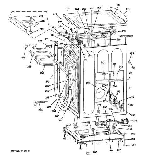 samsung front load washer parts diagram ge front load washer parts only wcvh6260f0ww ebay