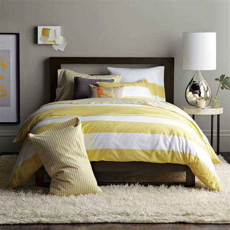 yellow white and gray bedroom coventry gray nest yellow stripes