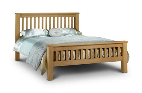 Wood Bed Frame With Headboard King Size Oak Wood Bed Frame And Headboard Plus Low Footboard Decofurnish