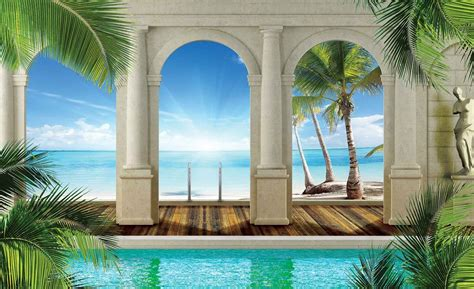 tropical wall tropical wall paper mural buy at europosters
