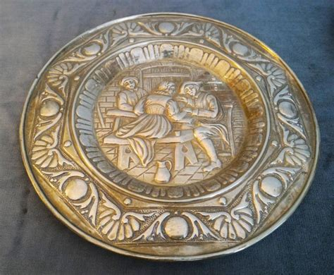 Decorative Wall Plates Set by Set Of Two Brass Decorative Wall Hanging Plates