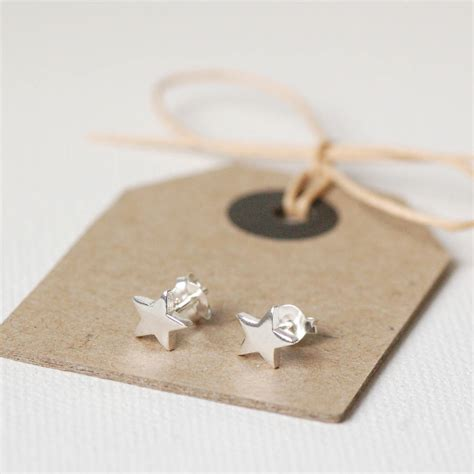 silver earring tiny silver earrings by highland notonthehighstreet