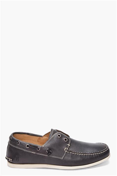 varvatos shoes varvatos black schooner boat shoes in black for