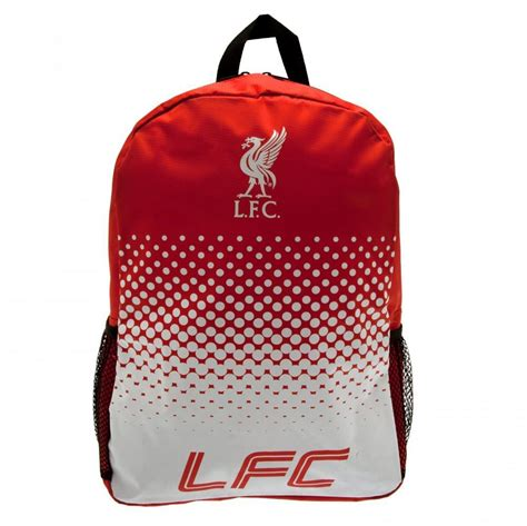 liverpool bedroom stuff liverpool fc fade backpack bag rucksack red white official merchandise ebay