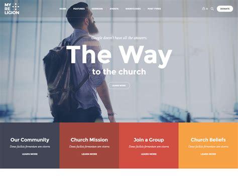 best church websites 40 best church website templates