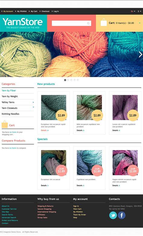 responsive yarn store magento theme 44274