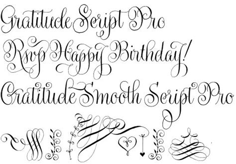 wedding font lithuanian gratitude script another masterpiece to be thankful for