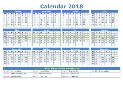 printable year calendars 2018 yearly calendars 2018 printable free with holiday
