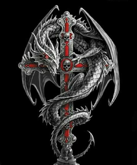 mythical dragon tattoo designs on cross wallpaper quotes sayings