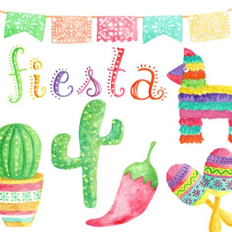 clipart festa watercolor clipart clip commercial use