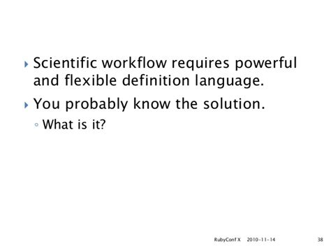 workflow definition language pwrake distributed workflow engine for e science rubyconfx