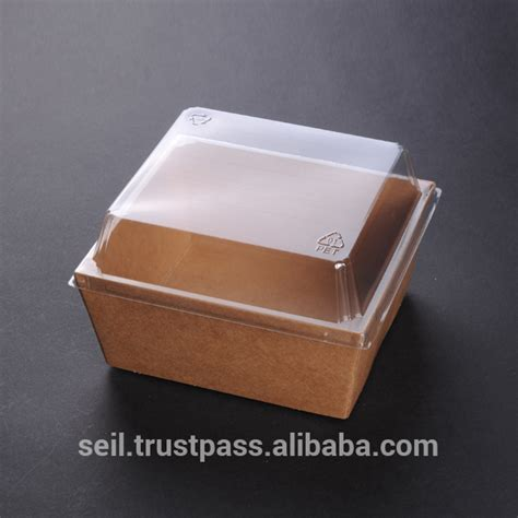 food grade paper box kraft paper food container view disposal paper fast food packaging sl