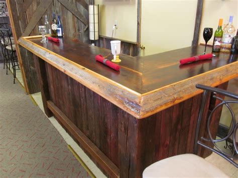 wood bar top ideas reclaimed wood bar made from old barn wood bars
