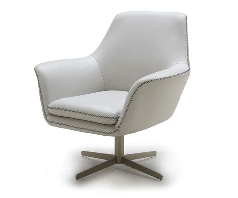 poli grey modern leather swivel lounge chair