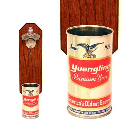 Eyeliner Yuanging wall mounted bottle opener with vintage yuengling can cap catcher gift for groomsmen