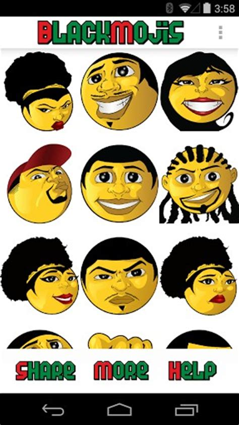 black emojis for android blackmojis black emojis app for android