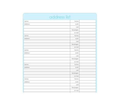 40 Printable Editable Address Book Templates 101 Free Book Template