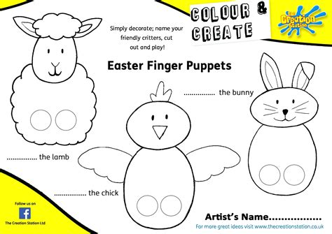 paper finger puppet template