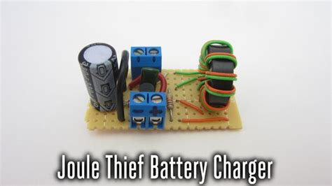 joule thief capacitor discharge joule thief low voltage battery charger 9 steps with pictures