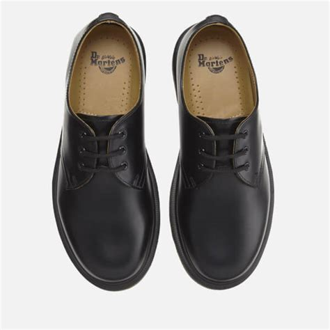 Dr Martens 1461 Black 3 dr martens 1461 pw smooth leather 3 eye shoes black