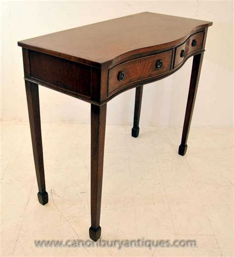 Serpentine Table by Mahogany Console Table Serpentine Tables