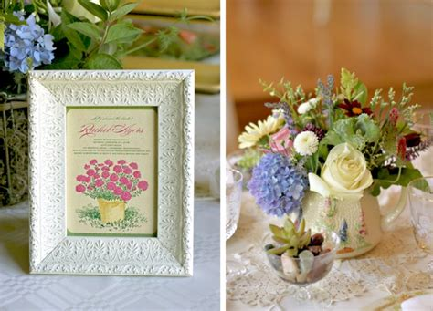 Garden Wedding Shower by Vintage Garden Bridal Shower The Couture Cakery