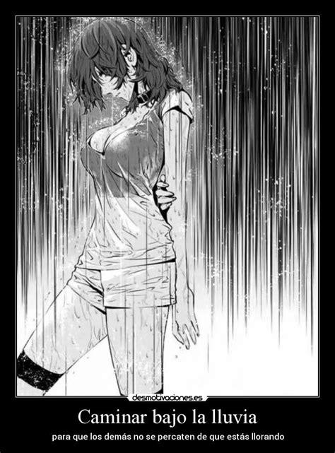 imagenes anime bajo la lluvia caminar bajo la lluvia desmotivaciones