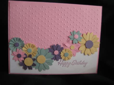 card ideas using cuttlebug punched flowers cuttlebug by grammy sue at