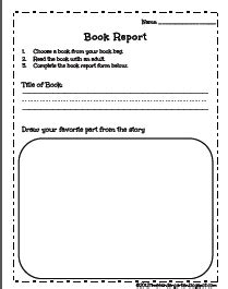 Book Report Worksheet For Kindergarteners by Time 4 Kindergarten February 2012
