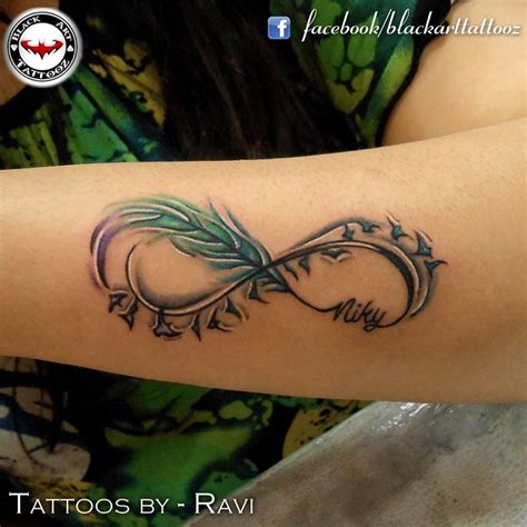 feather infinity tattoo best 25 infinity feather tattoos ideas on