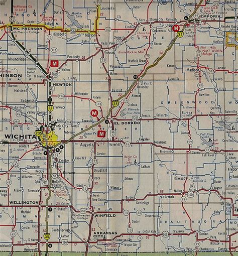 map of texas and oklahoma border kansas map of i 35 between emporia and oklahoma border 1974 flickr photo