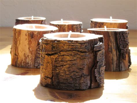 Candle Holders Home Decor 6 Woodland Driftwood Candle Holders Eco Friendly Home Decor