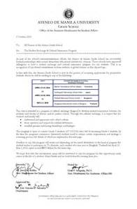Elementary School Registrar Cover Letter by The Student Exchange Cultural Immersion Program Ateneo De Manila