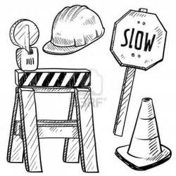 Construction Sign Colouring Pages sketch template
