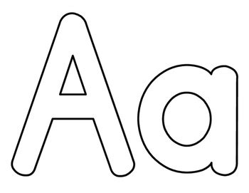 Lowercase A Coloring Page
