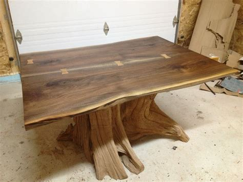 handmade black walnut dining table image